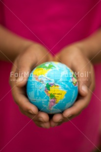 Fair Trade Photo Christmas, Climate, Colour image, Environment, Globe, Hand, Peru, South America, Sustainability, Vertical, World