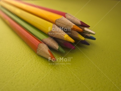 Fair Trade Photo Colour image, Education, Exams, Good luck, Green, Horizontal, Indoor, Multi-coloured, Pencil, Peru, South America, Tabletop