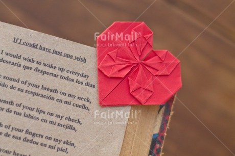 Fair Trade Photo Book, Colour image, Heart, Horizontal, Love, Origami, Peru, Poem, Red, South America, Text, Thinking of you, Valentines day