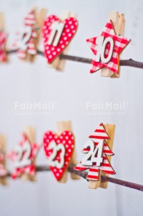 Fair Trade Photo Christmas, Christmas calendar, Colour image, Days, Peru, Present, Red, South America, Vertical, White