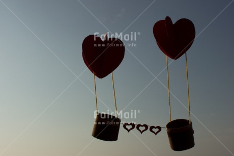 Fair Trade Photo Airballoon, Blue, Colour image, Heart, Horizontal, Love, Marriage, Peru, Red, Sky, South America, Thinking of you, Valentines day, Wedding