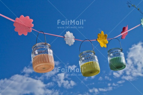 Fair Trade Photo Birthday, Blue, Candle, Clouds, Colour image, Colourful, Congratulations, Flower, Garden, Horizontal, Invitation, Low angle view, Outdoor, Party, Peru, Seasons, Sky, South America, Summer