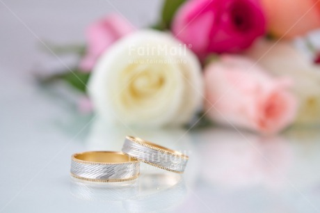 Fair Trade Photo Colour image, Flowers, Gold, Horizontal, Love, Marriage, Peru, Ring, Rose, Silver, South America, Wedding, White