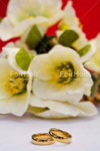 Fair Trade Photo Colour image, Flowers, Gold, Love, Marriage, Peru, Red, Ring, Silver, South America, Vertical, Wedding, White