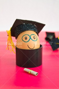 Fair Trade Photo Clothing, Colour image, Congratulations, Diploma, Egg, Food and alimentation, Hat, Indoor, One, Peru, Pink, South America, Success, Vertical, White