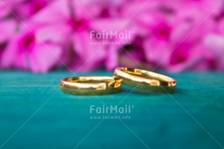 Fair Trade Photo Blue, Colour image, Flower, Gold, Horizontal, Indoor, Love, Marriage, Peru, Pink, Ring, South America, Two, Wedding
