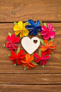 Fair Trade Photo Alphabet, Colour image, Colourful, Flower, Heart, Letter, Origami, Peru, South America, Text, Thinking of you, Vertical, White