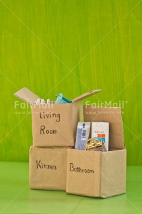 Fair Trade Photo Box, Colour image, Green, Moving, New home, Peru, South America, Vertical, Welcome home