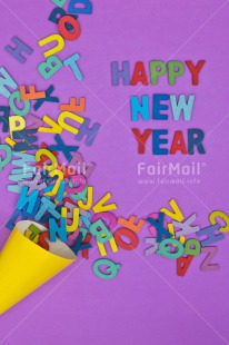 Fair Trade Photo Colour image, Colourful, Letter, New Year, Peru, Purple, South America, Text, Vertical