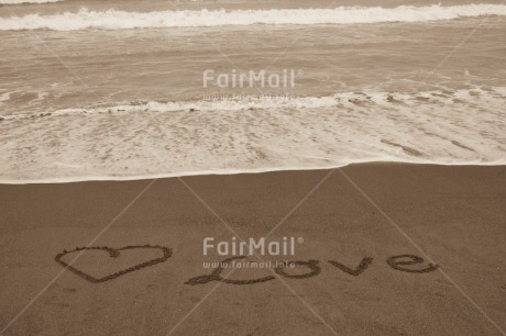 Fair Trade Photo Beach, Black and white, Heart, Horizontal, Love, Peru, Sand, Sea, Shooting style, South America, Valentines day
