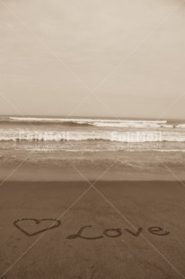 Fair Trade Photo Beach, Black and white, Heart, Love, Peru, Sand, Sea, Shooting style, South America, Valentines day, Vertical
