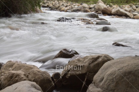Fair Trade Photo Colour image, Horizontal, Peru, River, South America, Stone, Water