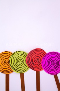 Fair Trade Photo Activity, Birthday, Celebrating, Colour image, Crafts, Indoor, Lollipop, Multi-coloured, Paper, Peru, Seasons, South America, Studio, Summer, Sweets, Vertical