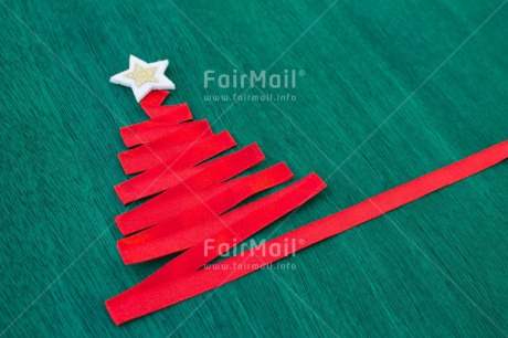 Fair Trade Photo Christmas, Colour image, Green, Indoor, Peru, Red, Ribbon, Seasons, Silver, South America, Star, Tree, Winter