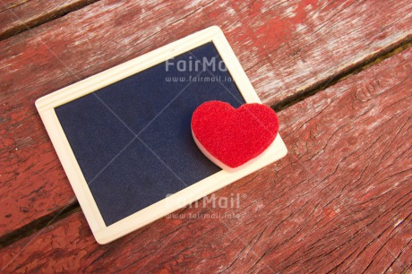 Fair Trade Photo Blackboard, Colour image, Fathers day, Heart, Horizontal, Love, Message, Mothers day, Outdoor, Peru, Red, South America, Table, Valentines day, Wood