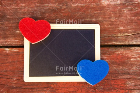 Fair Trade Photo Blackboard, Blue, Colour image, Fathers day, Heart, Horizontal, Love, Marriage, Message, Mothers day, Outdoor, Peru, Red, South America, Table, Valentines day, Wedding, Wood