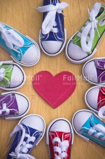 Fair Trade Photo Circle, Colour image, Colourful, Friendship, Love, Multi-coloured, Peru, Shoe, South America, Together, Valentines day, Wood