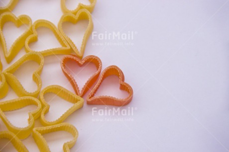 Fair Trade Photo Colour image, Couple, Food and alimentation, Heart, Love, Macaroni, Marriage, Peru, South America, Together, Valentines day, Wedding