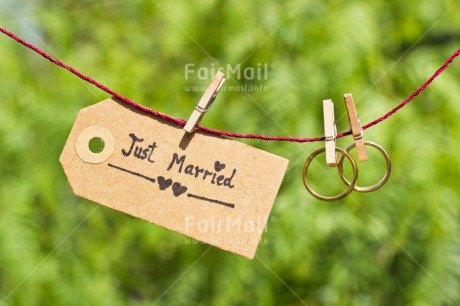 Fair Trade Photo Colour image, Couple, Gold, Green, Hanging, Horizontal, Love, Marriage, Nature, Outdoor, Peg, Peru, Ring, South America, Together, Two, Wedding