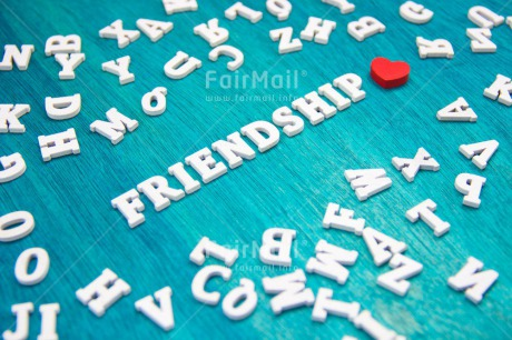 Fair Trade Photo Blue, Colour image, Friendship, Heart, Horizontal, Letters, Love, Peru, Red, South America, Text, Wood