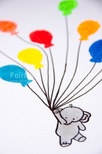 Fair Trade Photo Activity, Balloon, Birthday, Celebrating, Colour image, Colourful, Congratulations, Elephant, Emotions, Flying, Happiness, Holding, Multi-coloured, Peru, South America, Vertical
