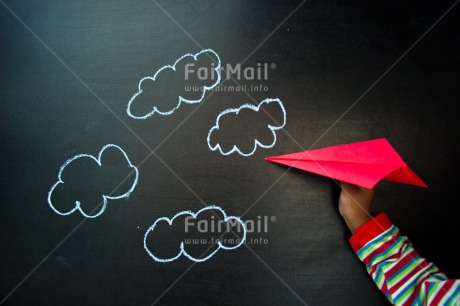 Fair Trade Photo Activity, Airplane, Animals, Birthday, Blackboard, Chalk, Clouds, Colour image, Drawing, Dreaming, Fly, Flying, Hand, Horizontal, People, Peru, Red, South America