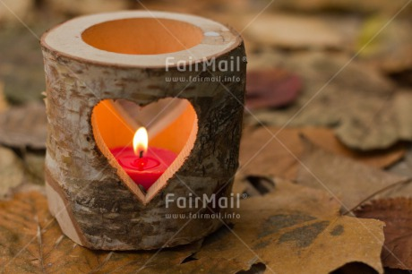 Fair Trade Photo Autumn, Candle, Colour image, Condolence/Sympathy, Flame, Heart, Horizontal, Leaf, Love, Peru, Seasons, South America