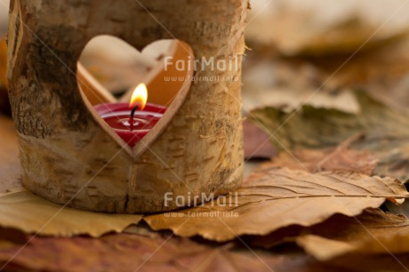 Fair Trade Photo Autumn, Candle, Condolence/Sympathy, Flame, Heart, Leaf, Love, Seasons, Thinking of you