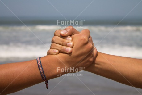 Fair Trade Photo Activity, Beach, Brother, Colour image, Day, Friendship, Hands, Holding, Holding hands, Horizontal, Ocean, Outdoor, People, Peru, Sea, South America, Success, Team, Together