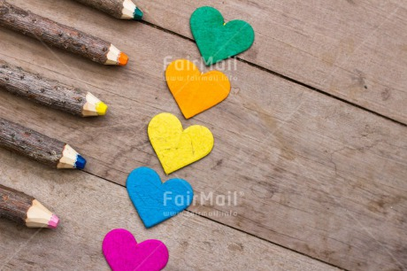 Fair Trade Photo Colour image, Colourful, Crayon, Heart, Love, Multi-coloured, Peru, South America, Valentines day, Wood