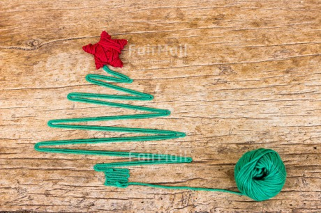 Fair Trade Photo Christmas, Colour image, Green, Peru, Red, Seasons, South America, Star, Tree, Winter, Wood, Wool