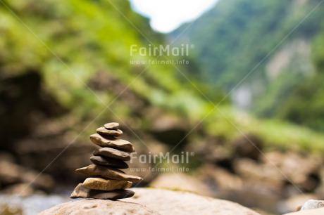 Fair Trade Photo Balance, Colour image, Day, Nature, Outdoor, Peace, Peru, River, South America, Stone