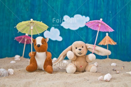 Fair Trade Photo Birthday, Blue, Colour image, Friendship, Holiday, Peluche, Peru, Sand, Shell, South America, Travel, Umbrella