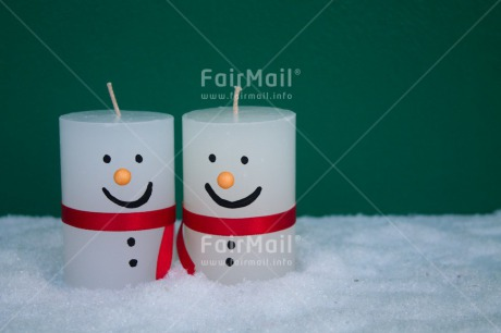 Fair Trade Photo Candle, Christmas, Colour image, Green, Horizontal, Peru, Red, Smile, Snowman, South America, White