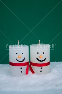 Fair Trade Photo Candle, Christmas, Colour image, Green, Peru, Red, Smile, Snowman, South America, Vertical, White
