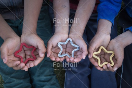Fair Trade Photo Activity, Christmas, Colour image, Giving, Hand, Horizontal, Peru, South America, Star