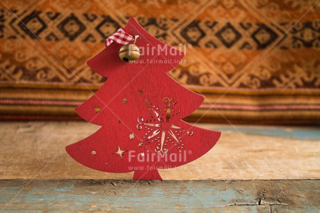 Fair Trade Photo Activity, Christmas, Christmas bell, Cloth, Clothing, Colour image, Crafts, Culture, Horizontal, Peru, Red, South America, Standing, Star, Traditional clothing, Tree, Weaving, Wood