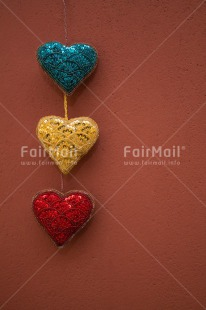 Fair Trade Photo Blue, Christmas, Colour image, Fathers day, Hanging, Heart, Love, Mothers day, Multi-coloured, Peru, Red, South America, Valentines day, Vertical, Yellow