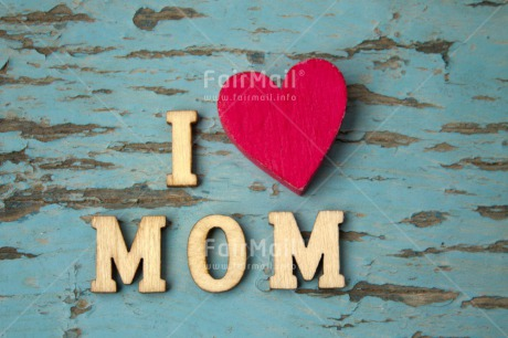 Fair Trade Photo Blue, Colour image, Heart, Horizontal, Letters, Love, Mothers day, Peru, Red, South America, Text, Wood