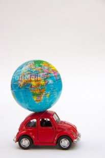 Fair Trade Photo Activity, Car, Colour image, Globe, Multi-coloured, Peru, Red, South America, Transport, Travel, Travelling, Vertical, World