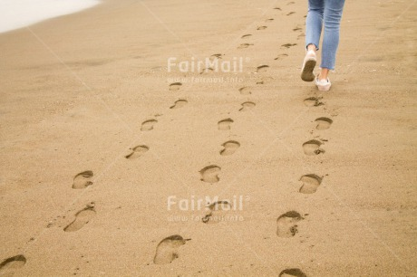 Fair Trade Photo Activity, Beach, Business, Colour image, Different, Foot, Footstep, Friendship, Outdoor, Path, Peru, Sand, South America, Team, Walking