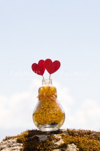 Fair Trade Photo Colour image, Day, Fathers day, Gift, Glass, Heart, Love, Marriage, Mothers day, Outdoor, Peru, Red, Ribbon, Rope, South America, Sweets, Thank you, Valentines day, Vertical, Wedding, Yellow