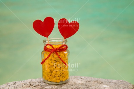 Fair Trade Photo Colour image, Day, Fathers day, Gift, Glass, Heart, Horizontal, Lake, Love, Marriage, Mothers day, Outdoor, Peru, Red, Ribbon, South America, Sweets, Thank you, Valentines day, Water, Wedding, Yellow