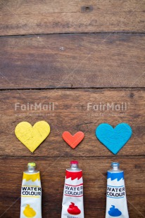 Fair Trade Photo Colour image, Colourful, Fathers day, Friendship, Heart, Love, Mothers day, Multi-coloured, Paint, Peru, South America, Together, Valentines day, Wood