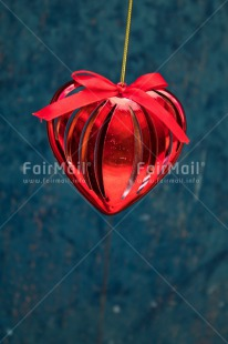 Fair Trade Photo Blue, Christianity, Christmas ball, Colour image, Decoration, Hanging, Heart, Love, Marriage, Peru, Red, Seasons, South America, Valentines day, Wedding, Winter