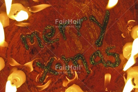 Fair Trade Photo Candle, Christmas, Closeup, Colour image, Fire, Flame, Green, Horizontal, Indoor, Letter, Peru, South America, Studio