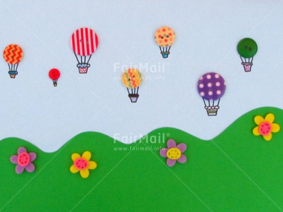 Fair Trade Photo Activity, Airballoon, Balloon, Button, Colour image, Fathers day, Flowers, Flying, Good luck, Green, Holiday, Horizontal, Love, Mothers day, Mounain, Multi-coloured, Peru, Seasons, Sky, South America, Spring, Summer, Valentines day