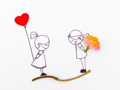 Fair Trade Photo Activity, Balloon, Boy, Colour image, Couple, Drawing, Flower, Gift, Girl, Heart, Horizontal, Love, Marriage, People, Peru, Red, South America, Together, Valentines day, Wedding