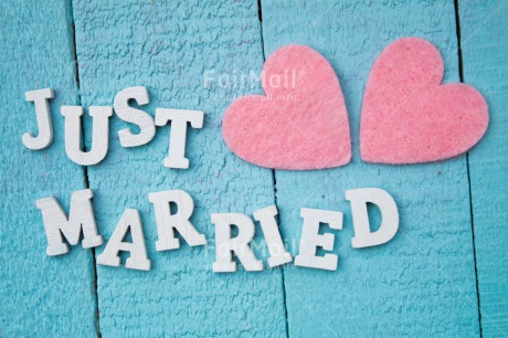 Fair Trade Photo Blue, Colour image, Couple, Heart, Letters, Love, Marriage, Peru, Pink, South America, Text, Two, Wedding, Wood