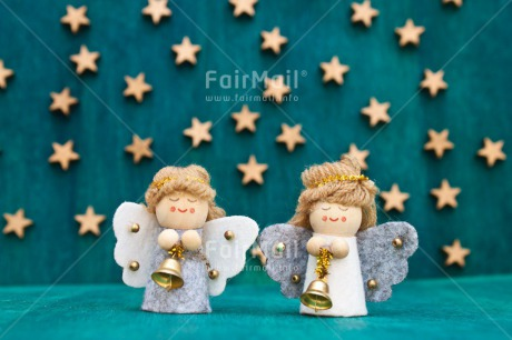 Fair Trade Photo Angel, Christmas, Colour image, Green, Horizontal, Peru, Seasons, South America, Star, Two, White, Winter, Wood
